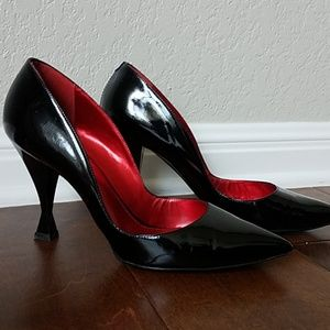 Black patent with square heels!